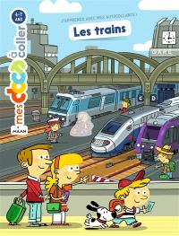 Les trains : autocollants