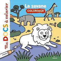 La savane : coloriage