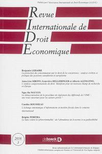 Revue internationale de droit économique. n° 3 (2016)