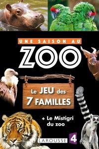Le jeu des 7 familles + le mistigri du zoo : une saison au zoo