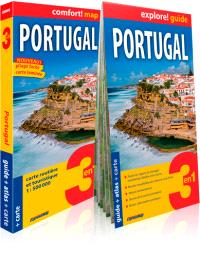 Portugal : 3 en 1 : guide + carte + atlas