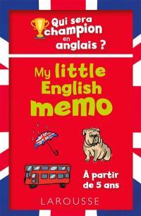 My little english memo : qui sera champion en anglais ?
