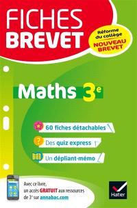 Maths 3e : nouveau brevet