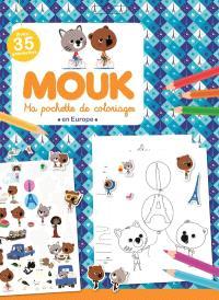 Mouk en Europe : ma pochette de coloriages