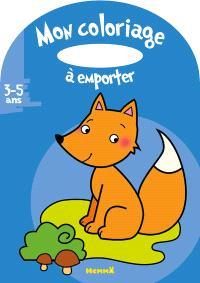 Mon coloriage à emporter, 3-5 ans : renard