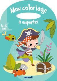 Pirate : mon coloriage à emporter, 4-6 ans