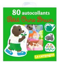 Petit Ours Brun : 80 autocollants : la campagne