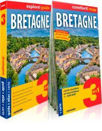 Bretagne : 3 en 1 : guide + atlas + carte
