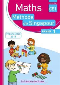 Maths, méthode de Singapour, CE1, cycle 2 : fichier 1 : programmes 2016