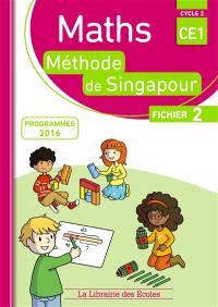 Maths, méthode de Singapour, CE1, cycle 2 : fichier 2 : programmes 2016