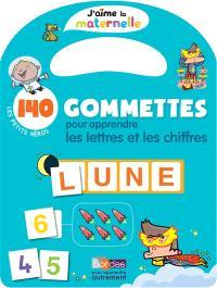 Les petits héros : 140 gommettes pour apprendre les lettres et les chiffres