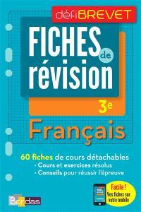 Français, 3e : fiches de révision