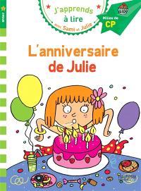 L'anniversaire de Julie : niveau 2, milieu de CP