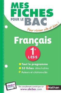 Français première L, ES, S