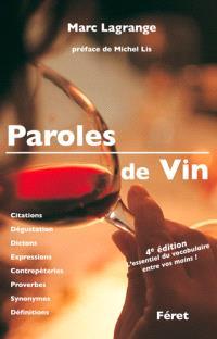 Paroles de vin