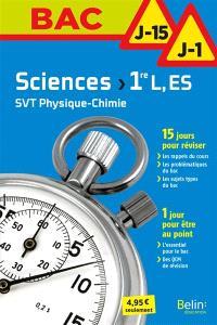 Sciences, SVT, physique chimie 1re L, ES