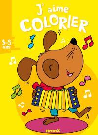J'aime colorier, 3-5 ans : chien