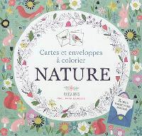 Nature : cartes et enveloppes à colorier