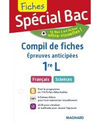 Compil de fiches, épreuves anticipées 1re L : français, sciences