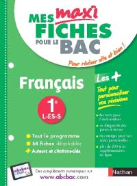 Français, 1re L, ES, S