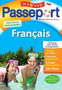 Passeport français, de la 6e à la 5e : nouveaux programmes