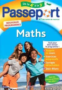Passeport maths, de la 4e à la 3e : nouveaux programmes