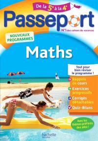 Passeport maths, de la 5e à la 4e : nouveaux programmes