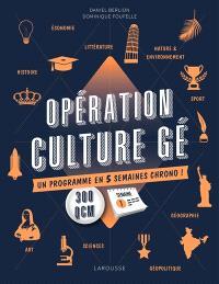 Opération culture gé ! : un programme en 5 semaines chrono !