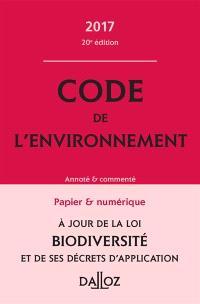 Code de l'environnement : 2017