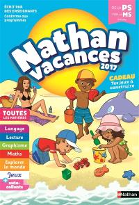 Nathan vacances 2017, de la PS vers la MS, 3-4 ans : toutes les matières