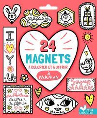 24 magnets à colorier et à offrir à maman