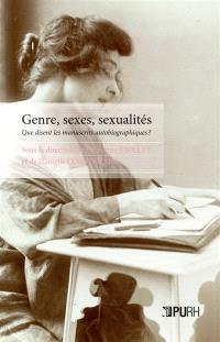 Genre, sexes, sexualités : que disent les manuscrits autobiographiques ?