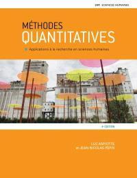 Méthodes quantitatives : applications à la recherche en sciences humaines : Manuel + Édition en ligne + Multimédia (12 mois)