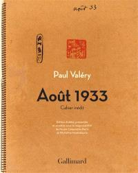 Août 1933 : cahier inédit