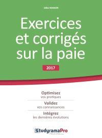Librairie Mollat Bordeaux Exercices Et Corriges Sur La Paie 2017