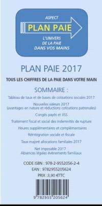 Plan paie 2017 : l'univers de la paie dans vos mains