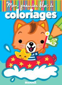 Mon premier bloc de coloriages : chat