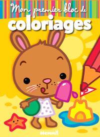 Mon premier bloc de coloriages : lapin
