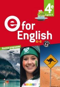 E for English 4e, cycle 4, A2-B1 : nouveau programme