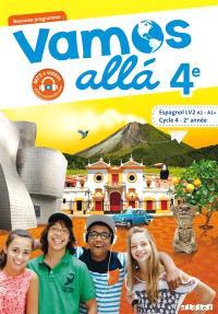 Vamos alla 4e, espagnol LV2 A1-A1+, cycle 4, 2e année : nouveau programme