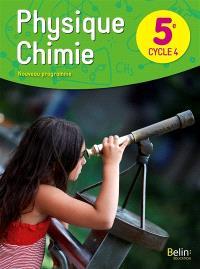 Physique chimie 5e, cycle 4 : nouveau programme
