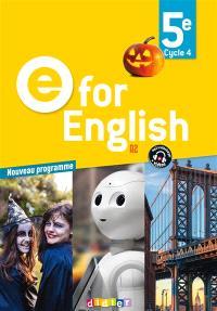 E for English 5e, cycle 4, A2 : nouveau programme
