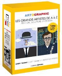 Artographic : les grands artistes  A à Z : peinture, sculpture et cinéma