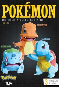 Pokémon : Bulbizarre, Salamèche, Carapuce : une déco à créer soi-même