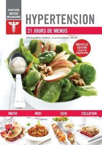 Hypertension  : 21 jours de menus