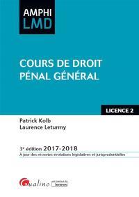 Cours de droit pénal général : licence 2 : 2017-2018