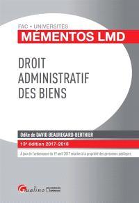 Droit administratif des biens : 2017-2018