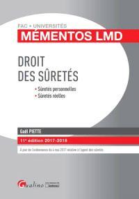 Droit des sûretés : sûretés personnelles, sûretés réelles : 2017-2018