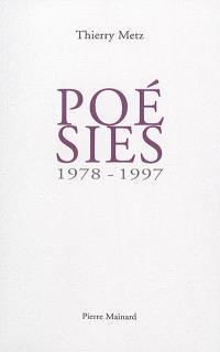 Poésies : 1978-1997
