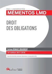 Droit des obligations : 2017-2018